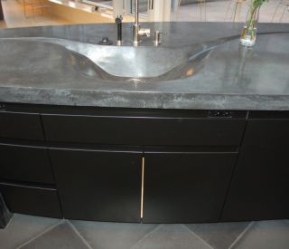 small concrete sink 10