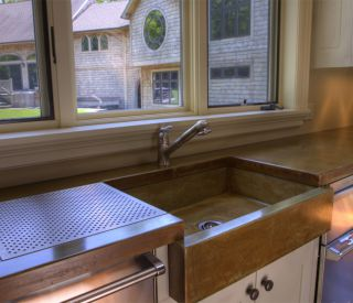 small concrete sink 12