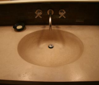 small concrete sink 1